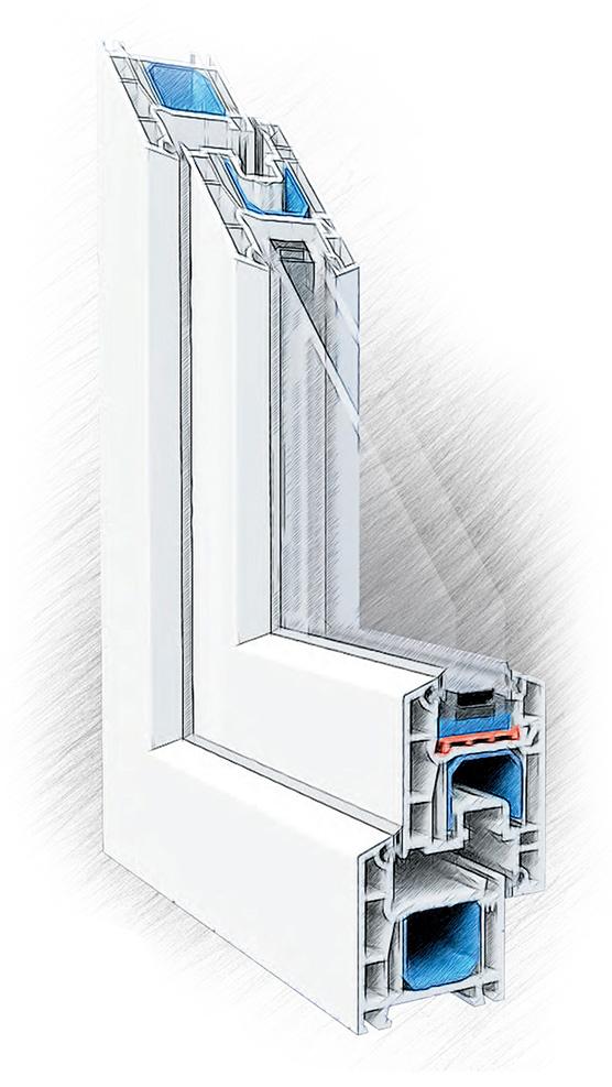 пластиковые окна ПВХ Dexen, Дексен A58