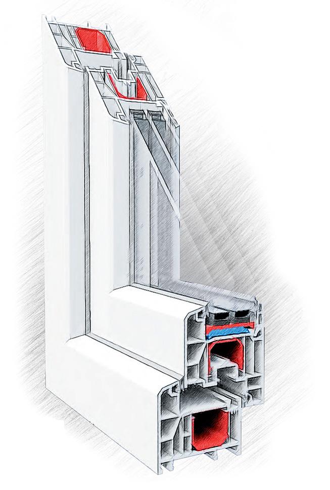 пластиковые окна ПВХ Dexen, Дексен A70